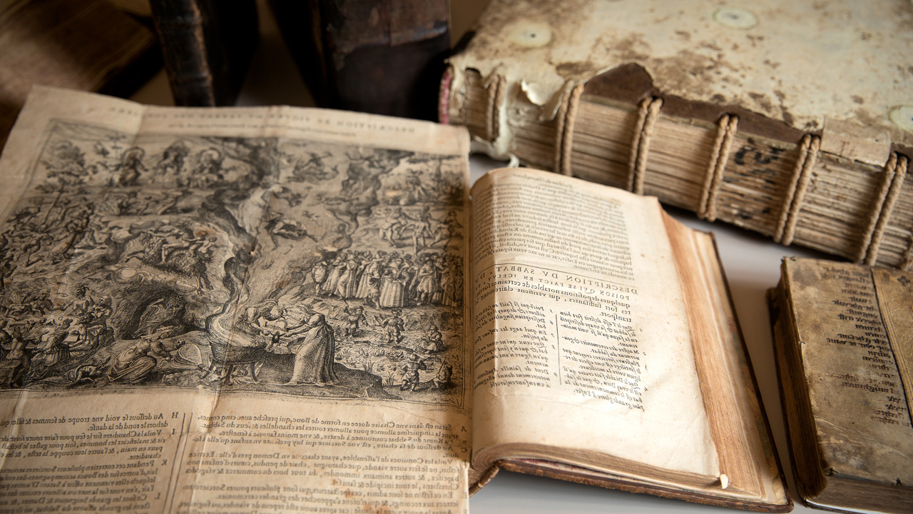 Books on witchcraft from the 15th and 16th centuries housed in the Division of Rare and Manuscript Collections